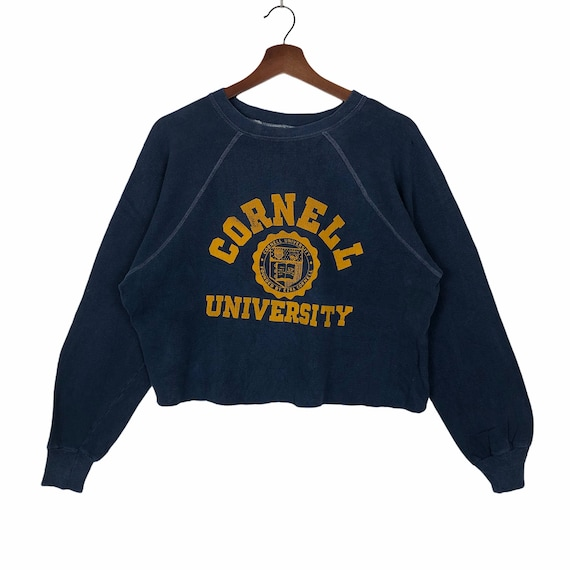 Vintage 70's 80's Cornell University Crop Sweatshi