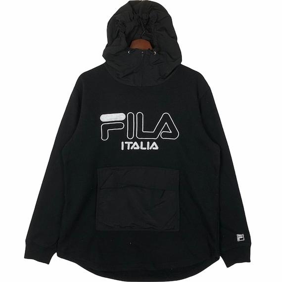 Vintage Fila Hoodie Sweatshirt Big Logo Fila Hoodi