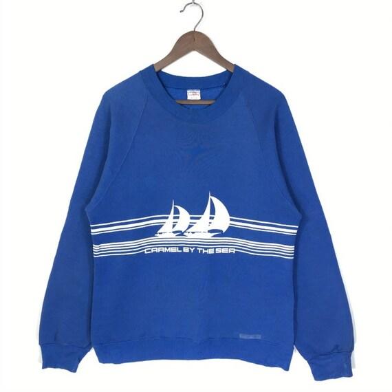 Vintage 80's Hawaii Crazy Shirt Sweatshirt Carmel