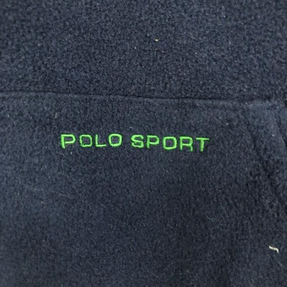 Vintage 90's Polo Sport Zip Up Fleece Jacket Polo… - image 5