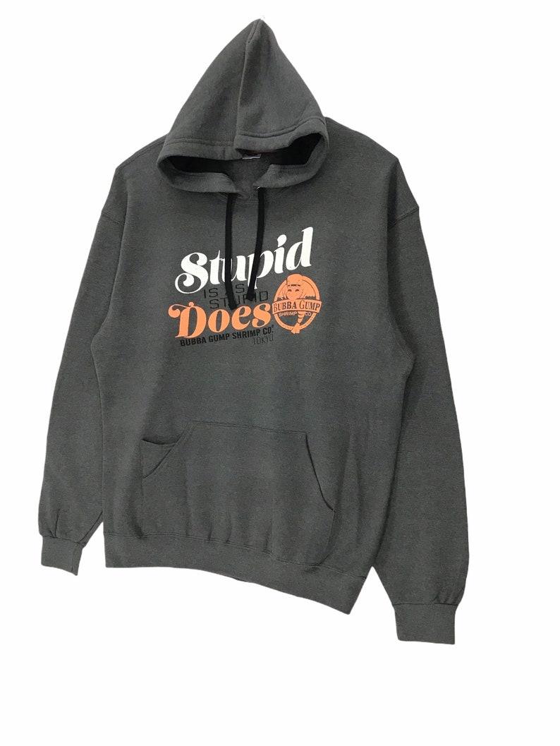Vintage Bubba Gump Shrimp Company Hoodie Sweatshirt Printed Spellout XLarge Size Vintage Shirt.
