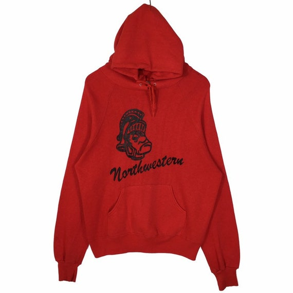 Vintage 70s Sweatshirt Hoodie Northwestern Raiders