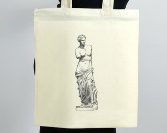300724ac78 Tote Bag Aphrodite Ancient Greek Statue Illustration. Perfect Gift For Book  Lovers. Ideal As Book Bag