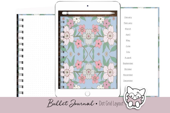 Digital Planner   Portrait Orientation   Grid Layout   Digital Planner    GoodNotes Xodo Metamoji   iPad Android