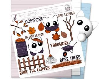Autumn Leaves • Digital Planner Stickers