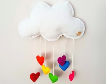 Cloud mobile colourful custom embroidery name // Móvil nube colores personalizado bordado