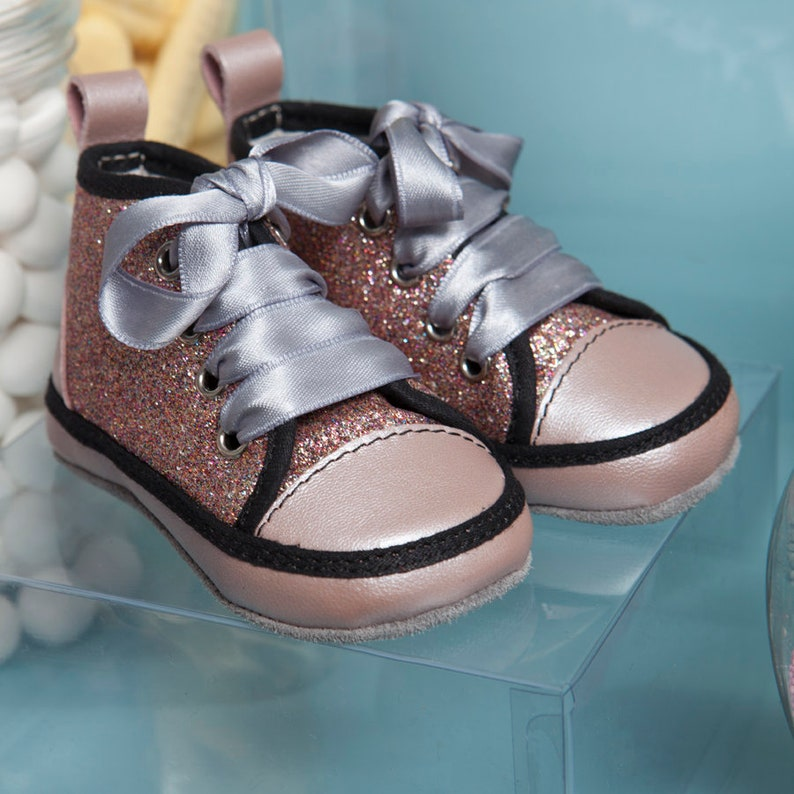 3424a0e9248d Molly Baby s First Shoes Glitter Sneakers