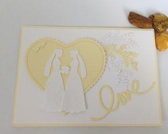 Congratulations card for gay wedding