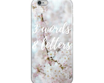 3 Words 8 letters iPhone case