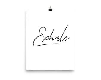 Exhale white print