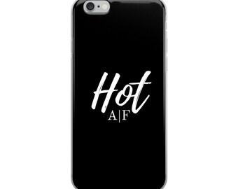 Hot A F black iPhone Case