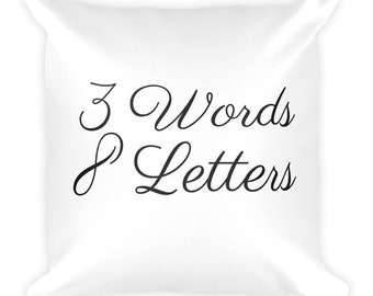 3 words 8 letters white cushion