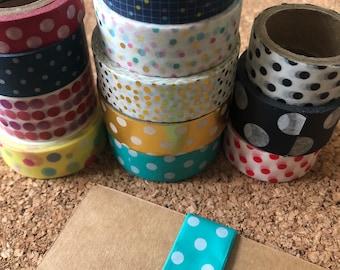 Bows and Polka dots skinny Collection Washi Samples