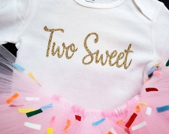 Two Sweet Donut Tutu Set, Donut Tutu, Donut Theme Party, 2nd Birthday, Girls Donut Birthday, Birthday Girl, Donut Theme, Pink Sprinkles Tutu