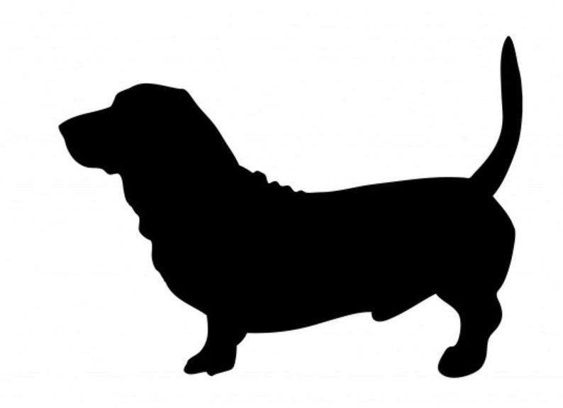 dog decal for Tumbler  Car  Mug  Laptop Vinyl CAR DECAL Basset Hound