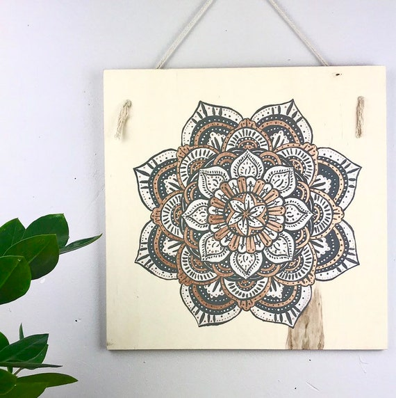 Painting - Wall decor - painted table - table - gift - mandala, mandala - paint - wood - French