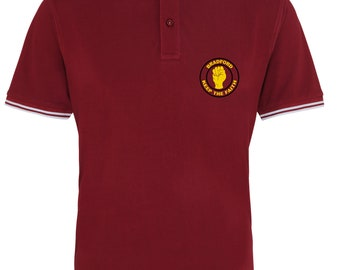 c498cc8c Bradford Inspired Keep the Faith Northern Soul Football Casual Mens Polo  Shirt