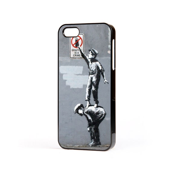 Banksy Graffiti Is A Crime Art Graffiti Artist Inspired Hard Case To Fit The Apple Iphone All Models