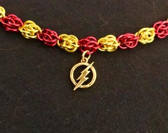 Fandom Chainmaille Sweet Pea Weave bracelet