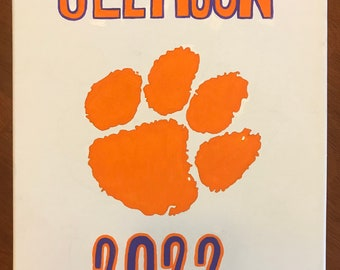 Clemson University personalized painting