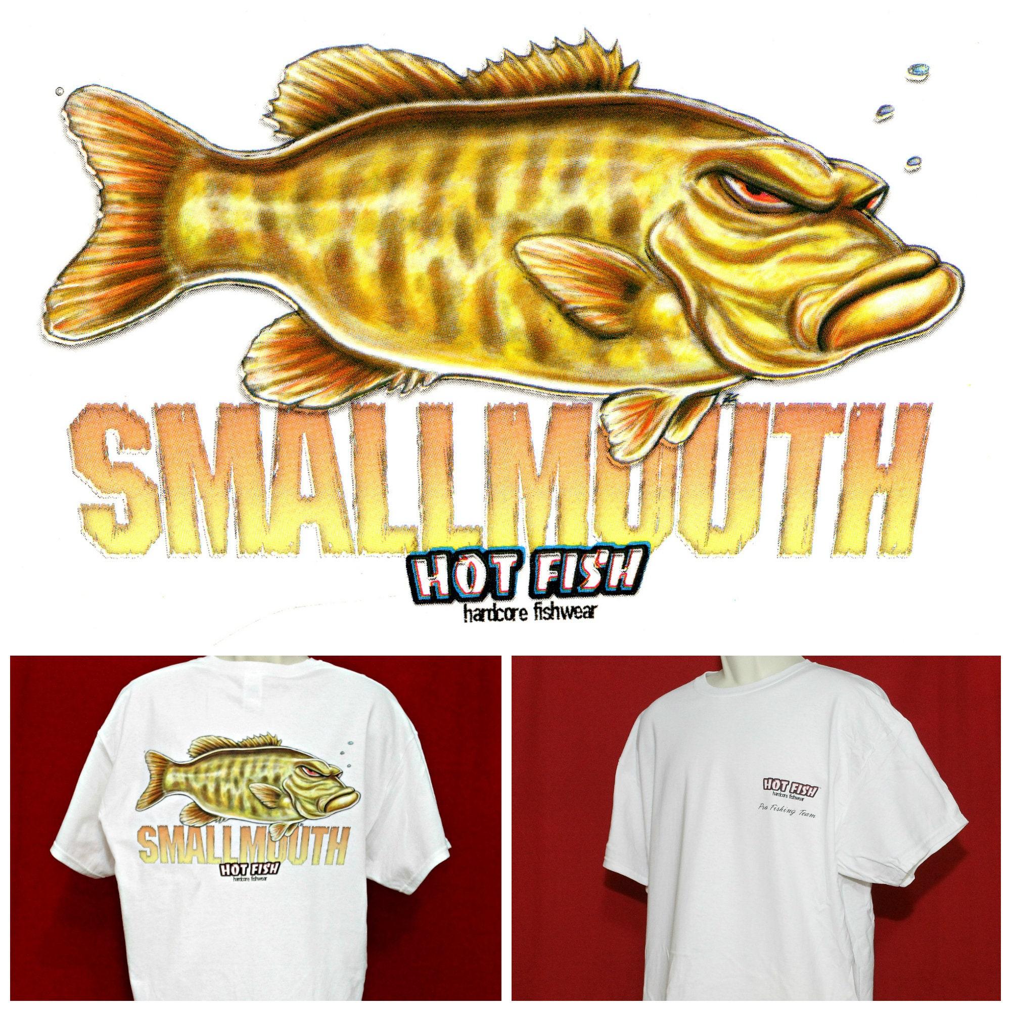 Grumpy Angry Funny Fish Shirt Smallmouth Bass Small Mouth Etsy