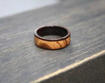Mens Wedding Band, Wood Wedding Ring, Wood Ring, Zebra Wood Ring, Unique Wedding Band