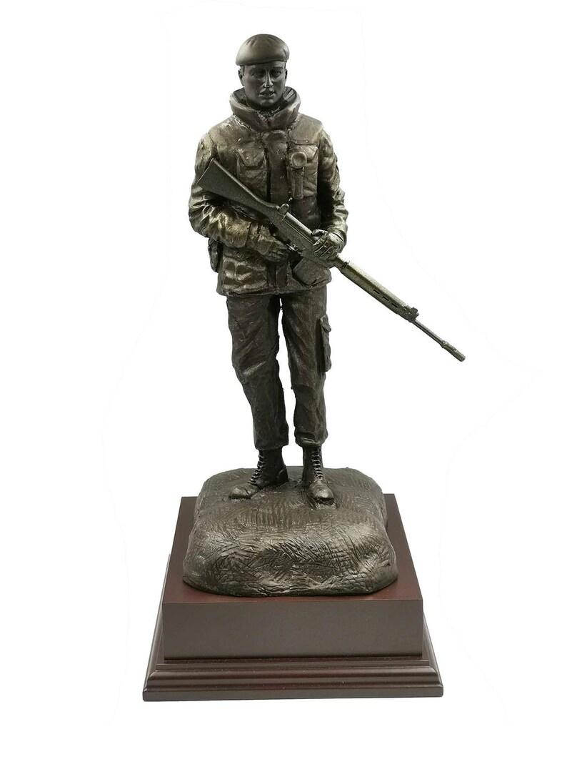 OP BANNER Northern Ireland British Soldier Cold Cast Bronze Figurine