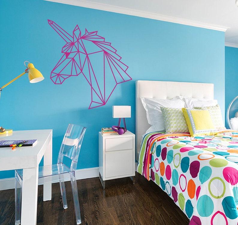 Unicorn Geometric Origami Wall or Door Art