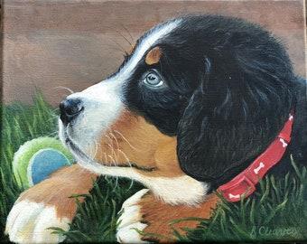 Custom Pet Portrait, Dog Painting, Custom Dog Portrait, 8x10 Pet Painting