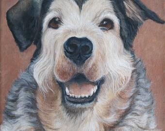 Custom Pet Portrait, Dog Portrait, Dog Painting, Pet Painting, Custom Dog Painting
