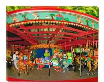 Sale|Carousel Art|Carousel Horses|Art For A Boys Room|Carousel Wall Art|Carousel Horse Art|Carousel Art On Canvas|Carousel Giclee Art