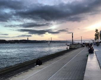 Lisbon River Printable Art