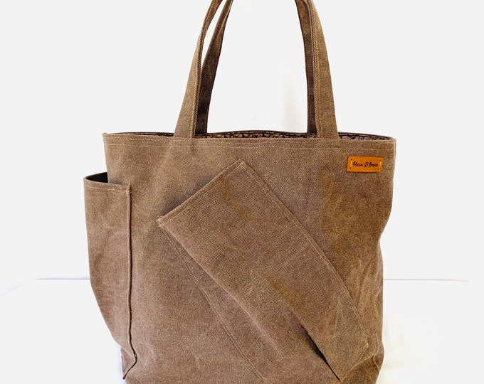 Canvas Reusable Market Bag|+3 cotton mesh produce bags|USE COUPON SPRING20| Durable| Urban|Zippered pocket|Two outside pockets|Eco Friendly