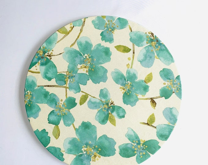 Emerald Botanical Print charger covers|Spring table decor|Fresh and delicate|Special Occasions|Mother's day| Table setting| Charger Plates