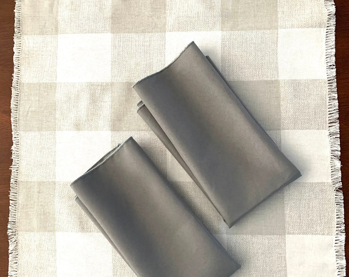 "Dark Gray Polyester Napkins| 17"" x 17"" 