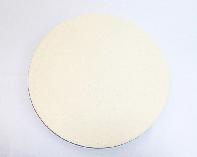 """Bone fabric Charger Plate Cover Washable 100% cotton Rustic table setting farm table Table decor Gift 13"""" diameter."""
