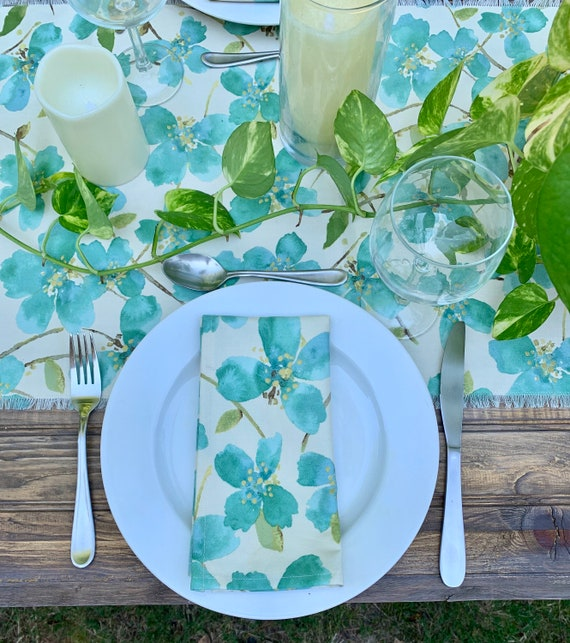 """Emerald green Cotton Napkins