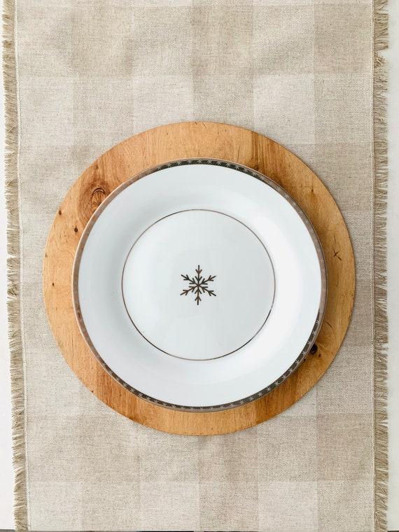 Buffalo Beige Plaid table Runner with fringes Christmas|Minimalist Christmas Decor| check|Farmhouse decor Rustic Look|Country decor