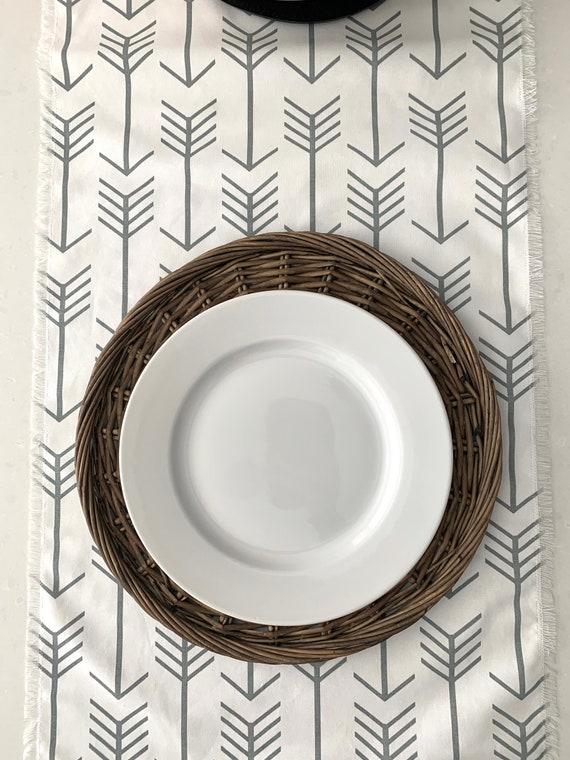 Tribal Arrow Table runner | Cotton| Gray|White| Farm table| Farmhouse| Modern decor| Table settings| Table decor| Patio table |Custom orders