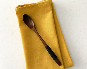"""Set of two Solid Mustard cotton Napkins  17"""" x 17""""  table setting  Table farm decoration  Easter  Spring  Fall  events  gift   Mother's Day"""