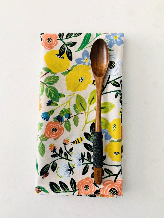 """Floral print cotton napkins