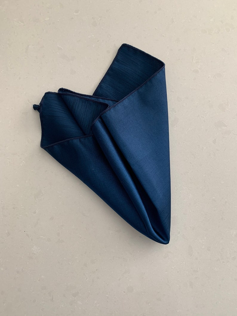 Navy Blue napkins Reversible Matte/ Shiny Polyester image 0