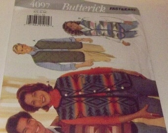 Vintage Butterick Sewing Pattern 4097 Fast & Easy Size XS-S-M
