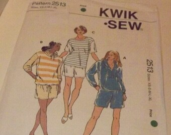 Vintage Kwik Sew Sewing Pattern 2513, 1996