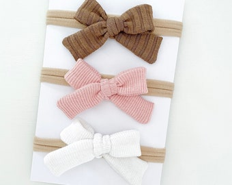 Baby Girl Toddler Newborn Girl Headband or Hair ClipSpringSummer Bow Strawberry Hand-Tied Embroidered Bow