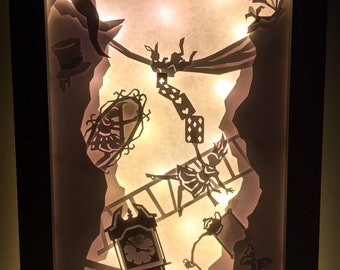 Alice in Wonderland Light-box Art (A4)