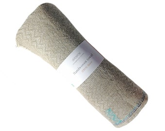Handwoven towel 'the blue', 100% fine linen, natural, ecofriendly product. Strong textile with a high water absorption.