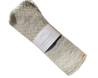 Handwoven towel, fine linen & hemp, natural, ecofriendly product. Strong textile with a high water absorption.