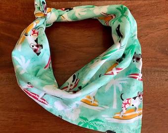 Surfing Dogs - Hawaiian - Sunglasses - Dog Bandana - FREE SHIPPING