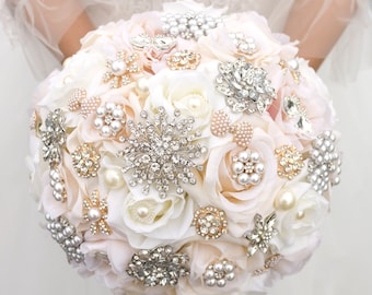 Bridal Fabric Brooch Bouquet   Brooch Bouquet  Made to Order